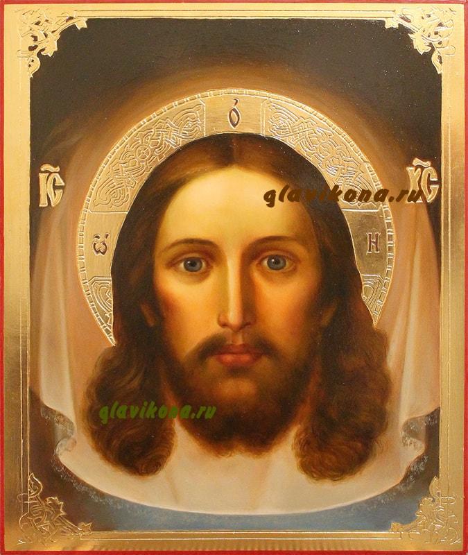 Икона Спасителя, написанная маслом