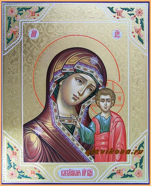 икона Богородмцы с резьбой