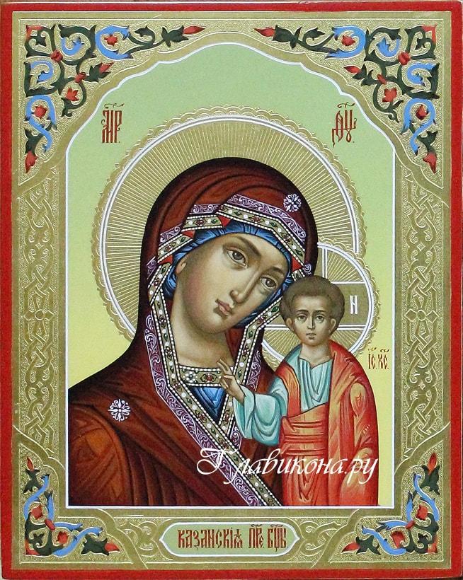 икона богородицы с резьбой по левкасу