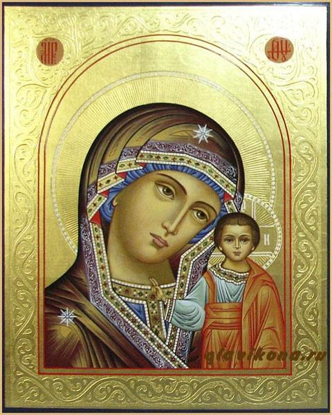 икона Казанской с рельбой