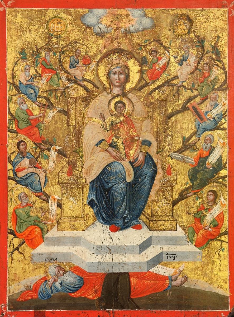 Древо Иессеево - редкая иконы с необычным сюжетом
