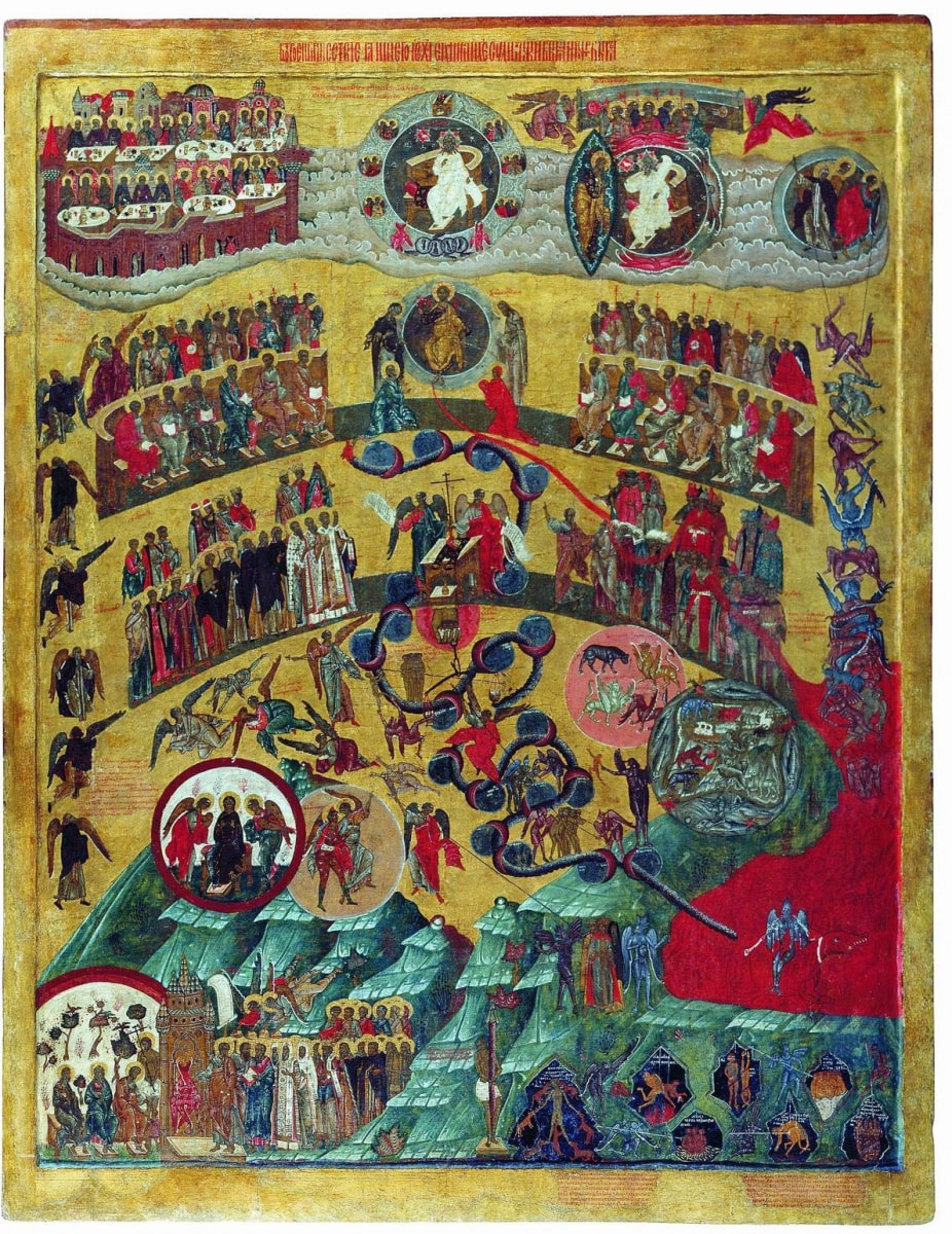 Необычная икона - Страшный суд Божий, один из сюжетов