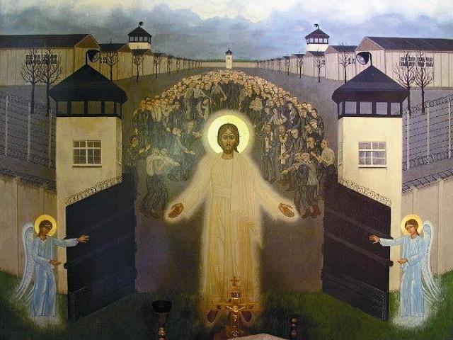 Икона Христос освобождает узников Дахау