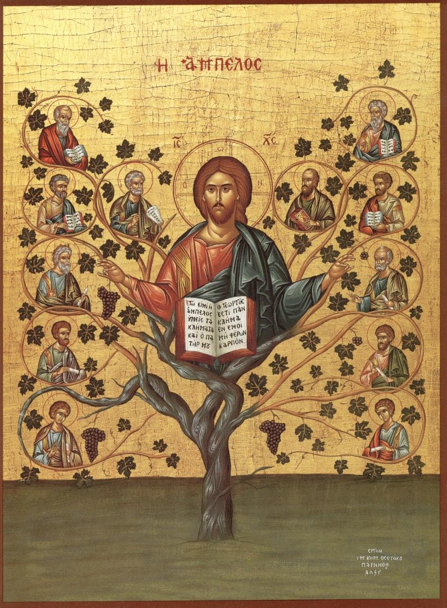 Необычная и красивая икона - Спас лоза Истинная