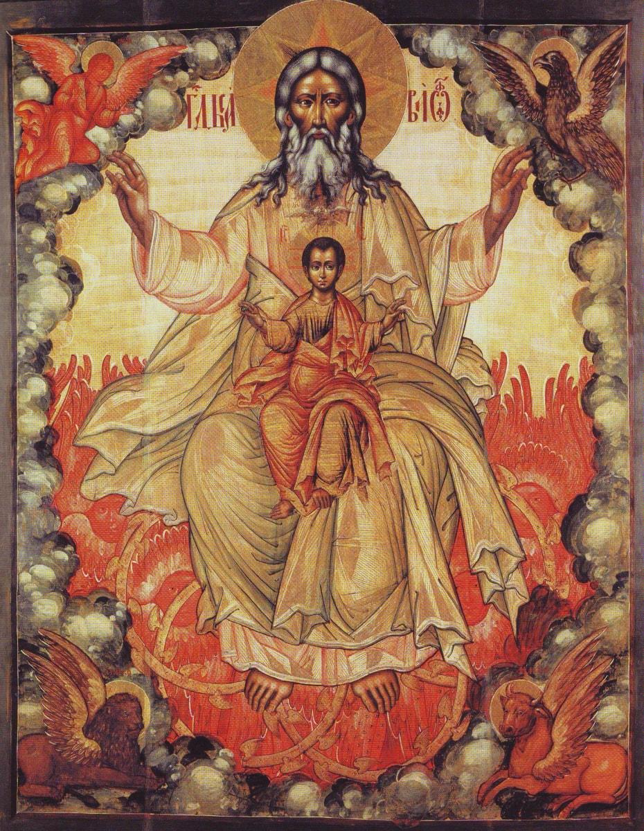 Необычная икона - Троица Новозаветная