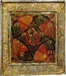 Икона Неопалимой Купины, конец XVII в, из Новодевичьего монастыря