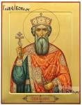 Рукописная икона князя Владимира, сделанная в нашей мастерской