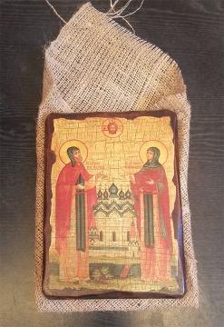 Отзыв по заказу иконы Петра и Февронии под старину на дереве