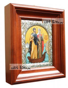 Отзыв о заказе иконы Петра и Февронии в окладе и киоте