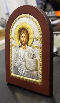 Серебряная икона Господа, с доставкой по России