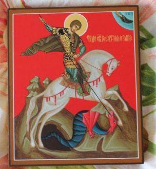 Писаная икона Георгия Победоносца - отзыв заказчика