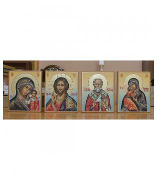 Четыре иконы в одном стиле