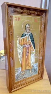 Писаная мерная икоан Илии Пророка и заказной киот под нее