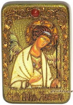 Икона Ангела Хранителя под старину в подарочном футляре