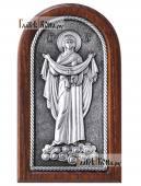 Покров Пресвятой Богродицы икона серебряная артикул 11215