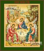 Троица Пресвятая в палехском стиле - артикул 90463