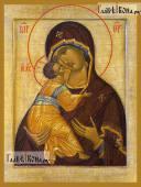 Владимирская Божия Матерь копия старинного образа - артикул 90487