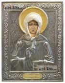 Матрона Московская икона печатная в окладе с классическим рисунком