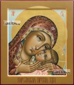 Корсунская икона Божией Матери в стиле палеха