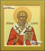 Икона святого Николая Чудотворца палех артикул 543