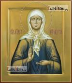 Матрона Московская рукописная икона палехский стиль