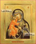 Икона Феодоровская с резьбой по левкасу артикул 290