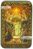 Вознесение Господня икона подарочная в футляре 10х15 см