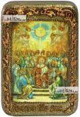 Сошествие Святого Духа икона подарочная в футляре 10х15 см