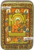 Тихвинская Хлебенная Запечная Божия Матерь икона подарочная в футляре 10х15 см