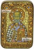 Николай Чудотворец святитель икона подарочная в футляре 10х15 см