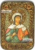 Алла мученица икона подарочная в футляре 10х15 см