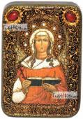 Валентина Кесарийская икона подарочная в футляре 10х15 см