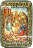 Благовещение Пресвятой Богородицы, икона подарочная в футляре, 10х15 см