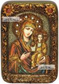 Смоленская Божия Матерь икона подарочная в футляре 10х15 см