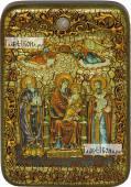 Домостроительница Экономисса Божия Матерь икона подарочная в футляре 10х15 см