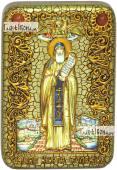 Преподобный Никита Столпник Переславский икона подарочная в футляре 10х15 см