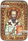 Родион (Иродион) апостол, епископ Патрасский, икона подарочная в футляре, 10х15 см