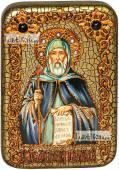 Преподобный Антоний Великий икона подарочная в футляре 10х15 см