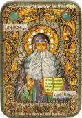 Максим Грек преподобный икона подарочная в футляре 10х15 см