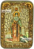 Максим Грек преподобный (ростовой), икона подарочная в футляре, 10х15 см