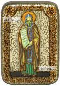 Кирилл равноапостольный, икона подарочная в футляре, 10х15 см