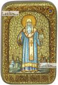 Алексий, митрополит Московский и всея России, икона подарочная в футляре, 10х15 см
