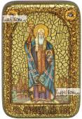 Ермоген патриарх Московский и всея Руси икона подарочная в футляре 10х15 см