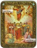 Вознесение Господня икона подарочная на дубовой доске 15х20 см