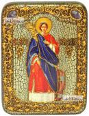 Екатерина Равноапостольная (ростовая), икона подарочная на дубовой доске, 15х20 см