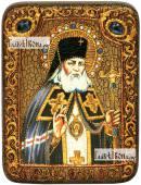 Лука Крымский икона подарочная на дубовой доске 15х20 см