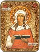 Валентина мученица икона подарочная на дубовой доске 15х20 см