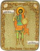 Валерий Севастийский икона подарочная на дубовой доске 15х20 см