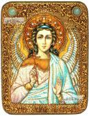 Ангел Хранитель в живописном стиле икона подарочная на дубовой доске 15х20 см