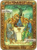 Троица Пресвятая светлый фон аналойная икона подарочная